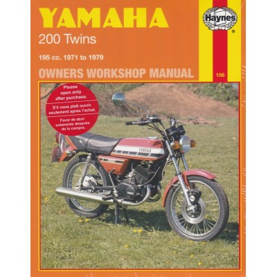 Haynes Manual Yamaha RD200, RD200DX, CS3 & CS5