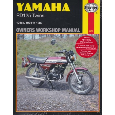 Haynes Manual Yamaha RD125, RD125DX Twin 74 -82