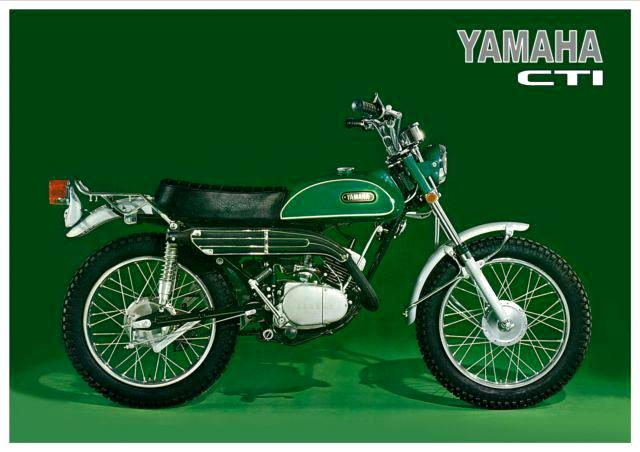 Official picture of Yamaha CT1 175 Motorcycle in green colour